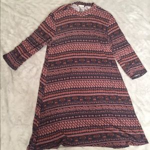 A-line Patterned Dress